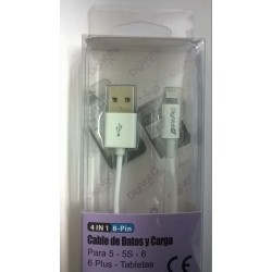CABLE DE DATOS Y CARGA PARA IPHONE 5 , 6 y 7