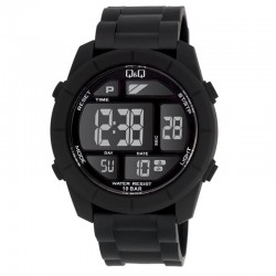 RELOJ DIGITAL CALENDARIO Q&Q UNISEX NEGRO