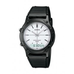 RELOJ CASIO ANALOGICO DIGITAL UNISEX NEGRO BLANCO