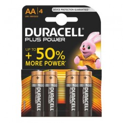 PILA DURACELL PLUS POWER  LR6 AA|4