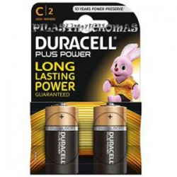 PILA DURACELL PLUS POWER LR14 C|2